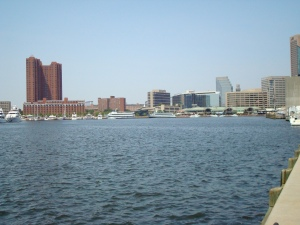 The Inner Harbor looking back at Camden