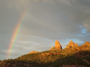 Sedona and the rainbow