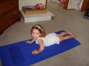 Audrey doing some stretching!