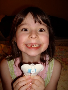 Halle lost a tooth