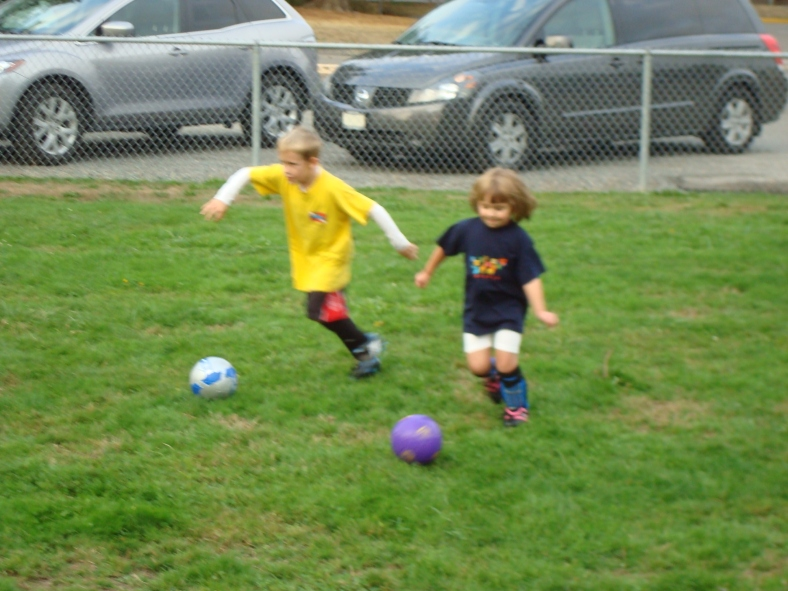 Audrey began her soccer career with her first practice