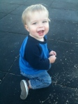 Will enjoyed the playground during Halle's Soccer Practice