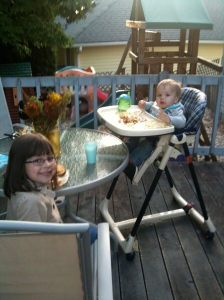 Sept. 26 and we're loving the outdoor dinner!